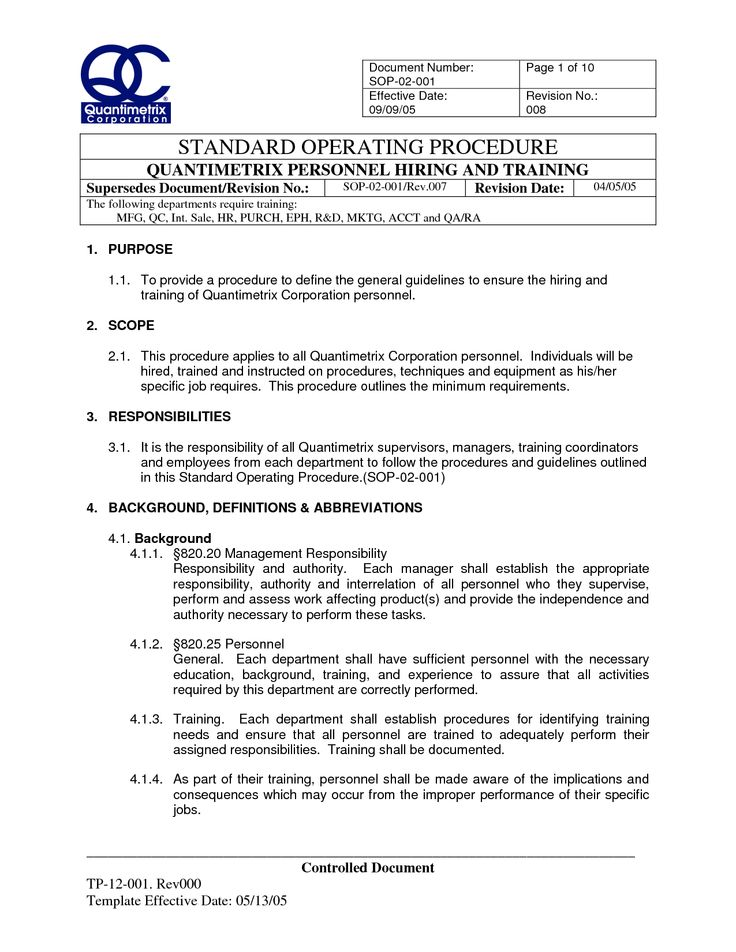 Office Procedures Manual Template - FREE DOWNLOAD