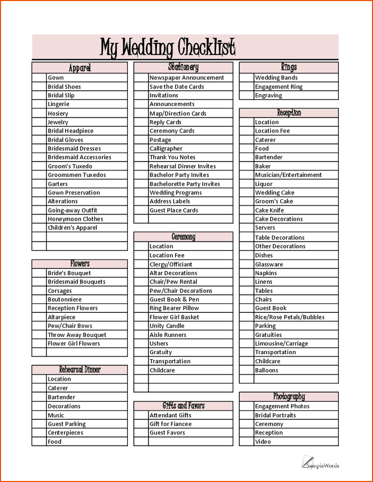 Party Planner List Template - FREE DOWNLOAD