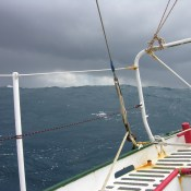 Typical grey weather in the Southern Ocean.