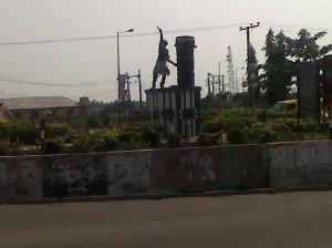 City Centre~The famous Sato Drum. Badagry in pix