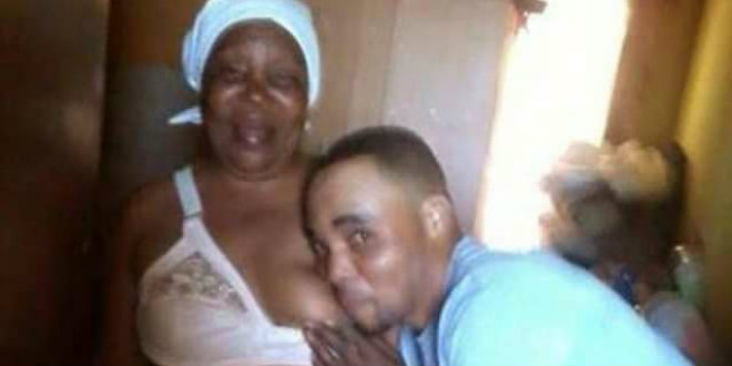 man shares photo of him sucking his mother's breast