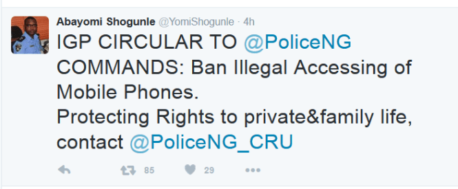IG of Police bans policemen from illegally accessing mobile phones of Nigerians