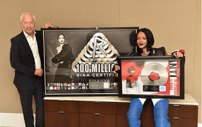 Rihanna Makes History As The First Artist With RIAA 100M Song Awards