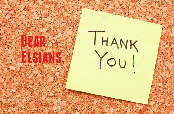 Dear Elsians, Thank you - elsieisy blog