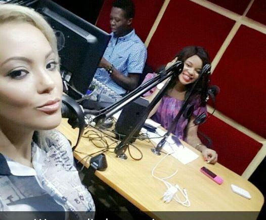 sarah ofili and Elsie Godwin at Happenings Radio studio - elsieisy blog