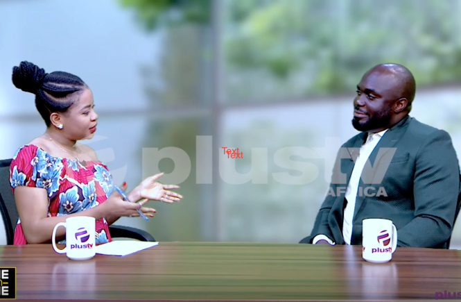 Elsie Godwin and Edose Ohen on One on One set at Plus TV Africa - Elsieisy blog
