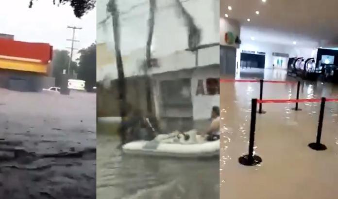 Internautas difundieron videos de los estragos que provocó el huracán 'Nora' en Mazatlán, donde se han registrado diversas inundaciones en las últimas 24 horas (CAPTURA)