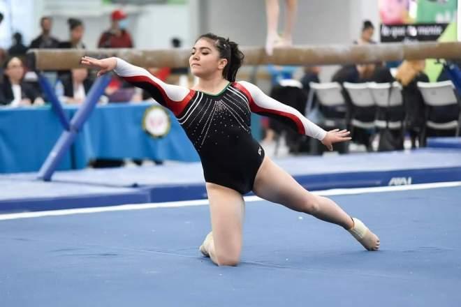 La gimnasta mexicana Alexa Moreno avanzó este día a la final del Mundial de gimnasia, mismo que se desarrolla en la ciudad de Doha, Kazajistán. (Especial)