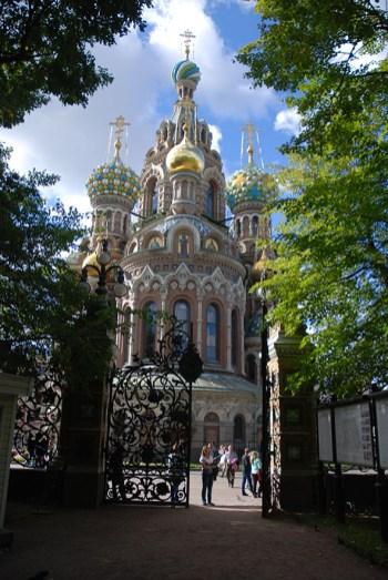 Kerk van de Verlosser op het bloed buitenkant Sint Petersburg
