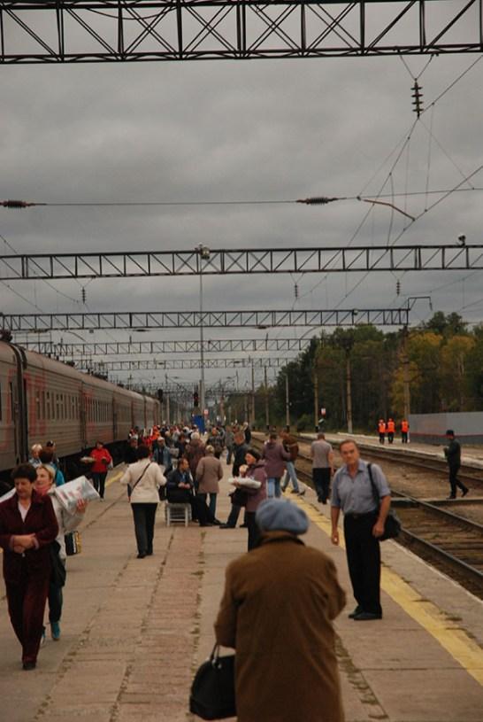 Trein Moskou naar Novosibirsk station