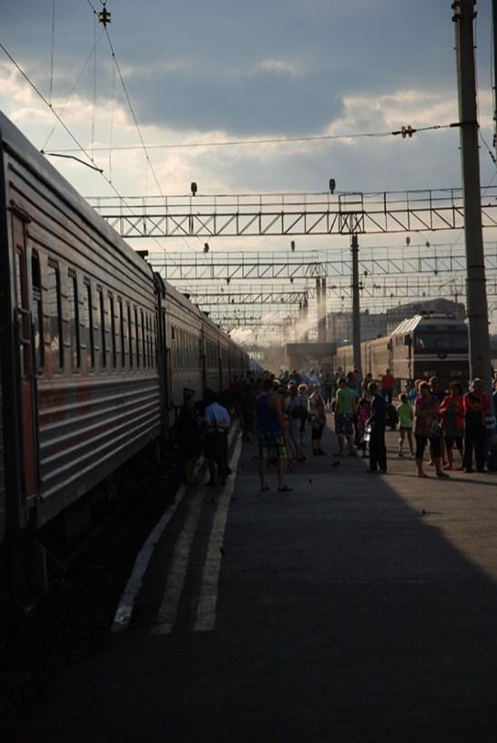 Station TransSiberië express Rusland