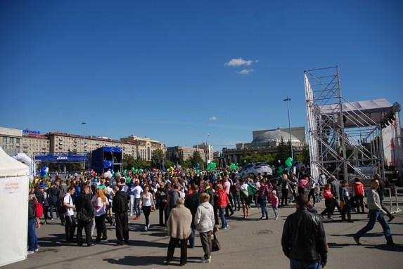 Novosibirsk marathon Rusland