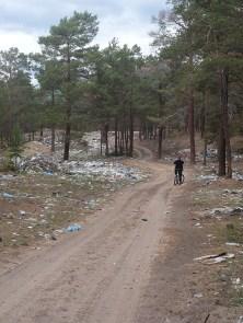 Fietsen Olchon vuilnisbelt