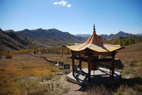 Gorkhi Terelj nationaal park klooster uitzicht