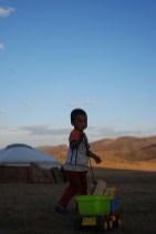 Orkhon Mongolië hout hakken kinderen