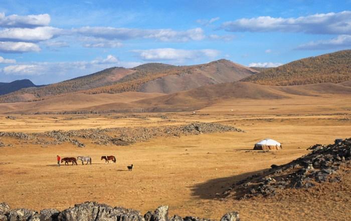 Orkhon valley nationaal park Mongolië