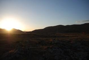 Orkhon valley zonsondergang