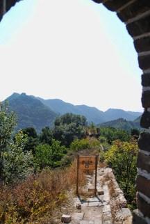 Chinese muur Mutianyu onbegaanbaar stuk