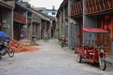 Straatbeeld Xingping China