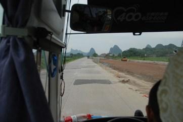 Bus van Yangshuo naar Guilin