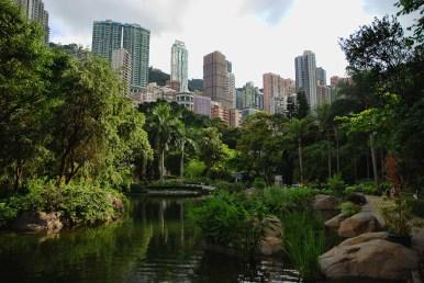 Hong Kong park stad versus groen