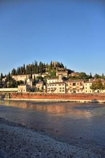 Verona Italië Castel San Pietro