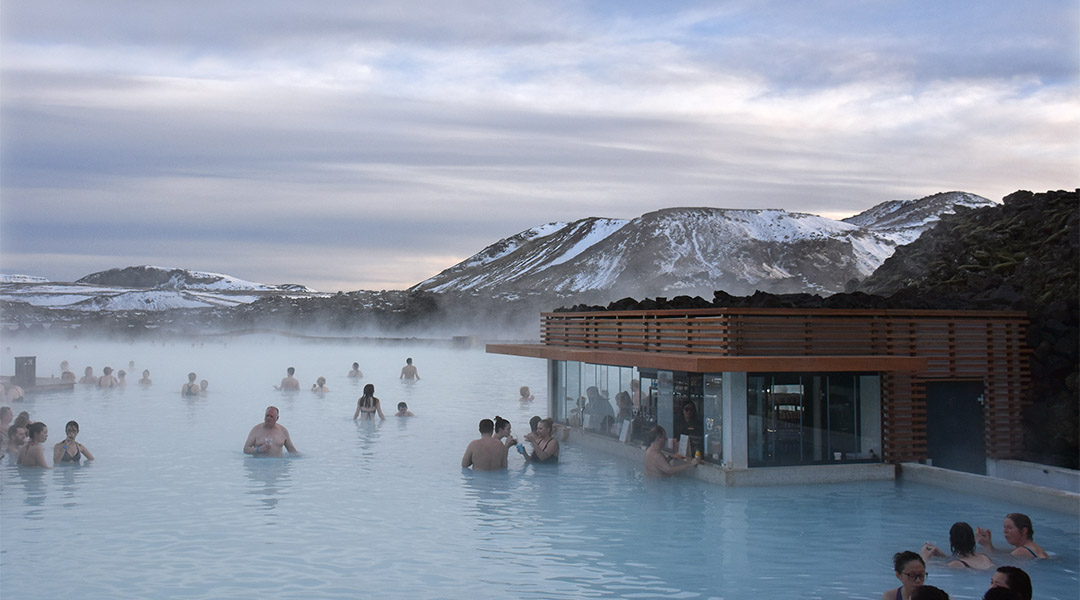 Blue Lagoon IJsland in de winter