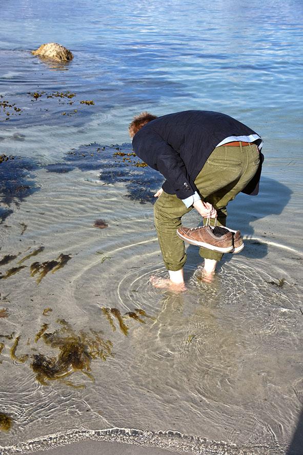 Bartek ziet vissen in Iona