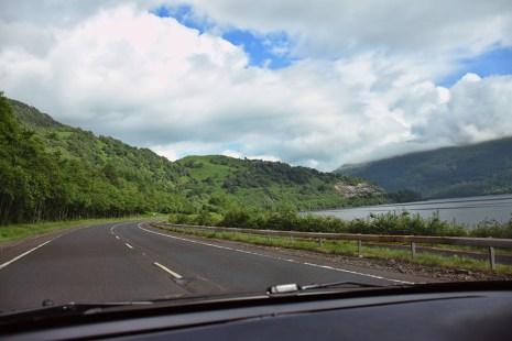 Rijden door Schotland
