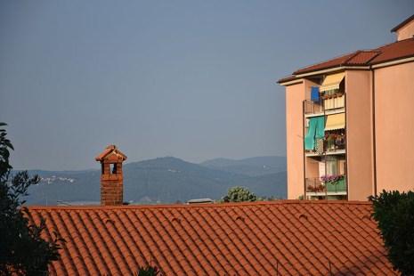Uitzicht vanuit het appartement in Slovenië