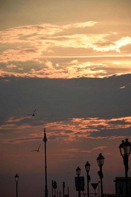 Zonsondergang Triëst Italië