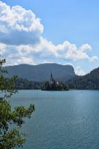 Kasteel in het meer van Bled Slovenië