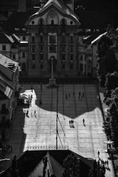 Plein van Ljubljana vanaf bovenaf