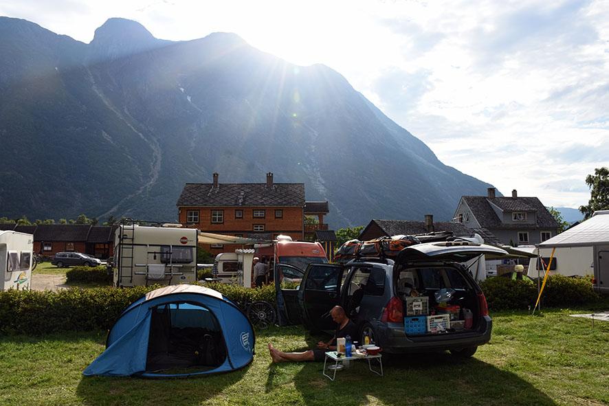 Camping in Eidfjord Noorwegen