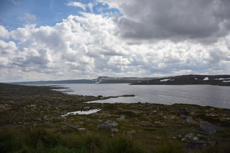 Hardangervidda meer op de hoogvlakte