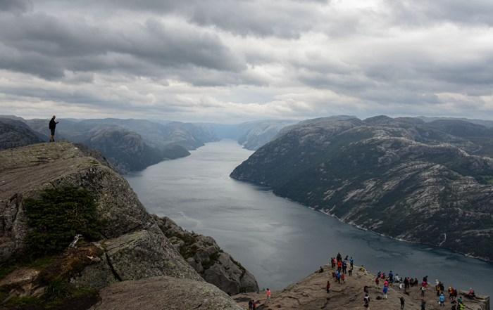 Preikestolen Noorwegen uitzicht