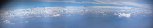 Langtang Hembalu Himalaya vanuit het vliegtuig