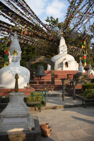 Stupas bij de Swayambhu tempel Kathmandu
