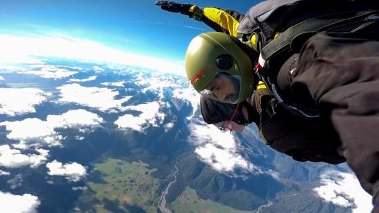 Ongelooflijk uitzicht boven Fox Glacier over alle bergen van Nieuw-Zeeland