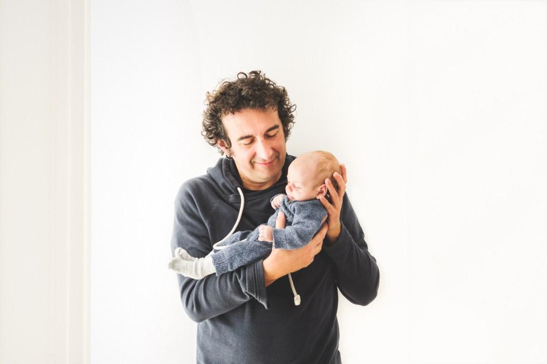 daddy &newborn session