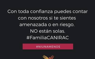 Resultado de imagen para Se suma la CANIRAC a la campaña #NiUnaMenos