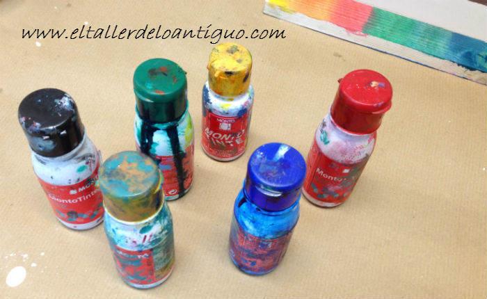 tintes de colores para madera