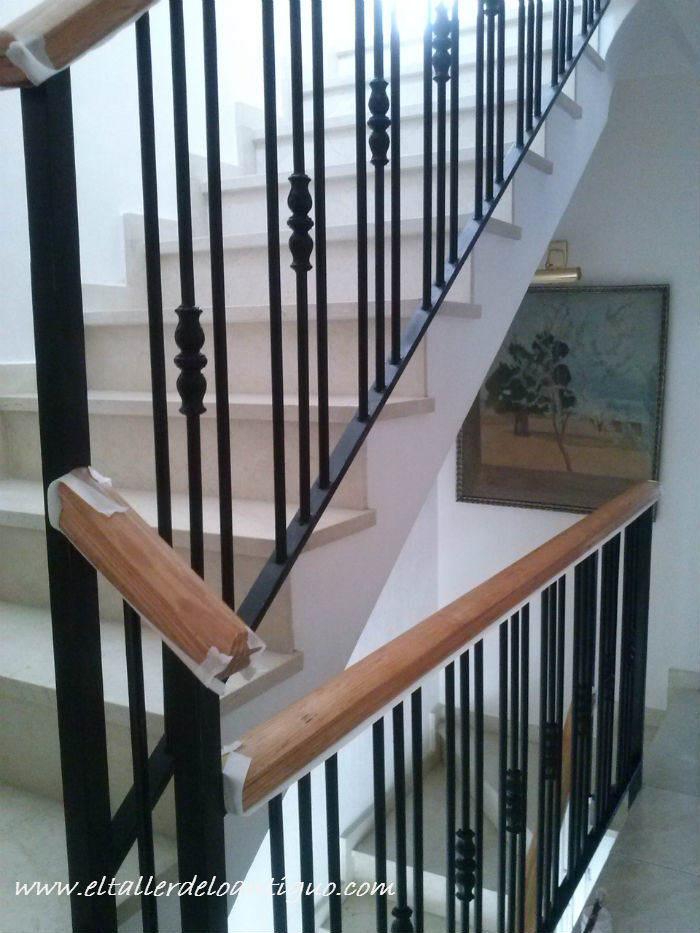 Pintar barandilla escalera hierro simple simple tras with - Pintar aluminio lacado ...
