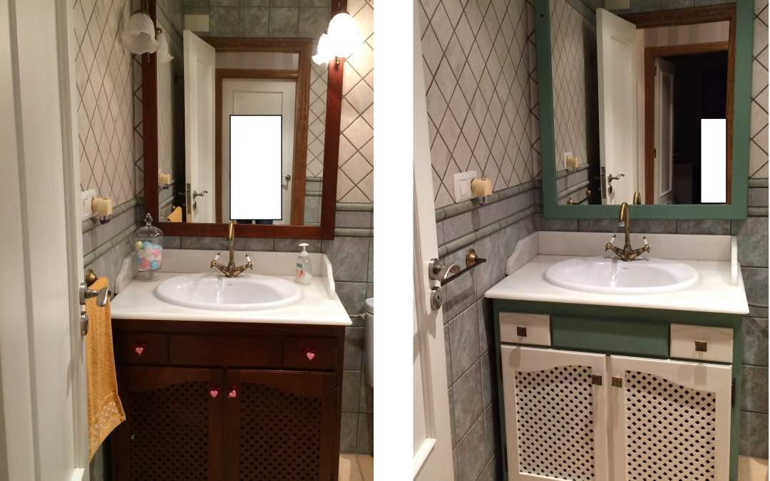 Pintar mueble de baño