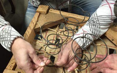 Reparar Asiento silla de Muelles silla tradicional de esparto y muelles de hierro