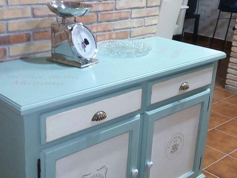 Pintar mueble de cocina el taller de lo antiguo - Pintar mueble antiguo ...