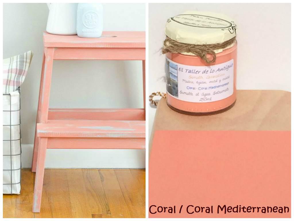 Pintar muebles de color coral el taller de lo antiguo - Tecnicas de pintar muebles ...