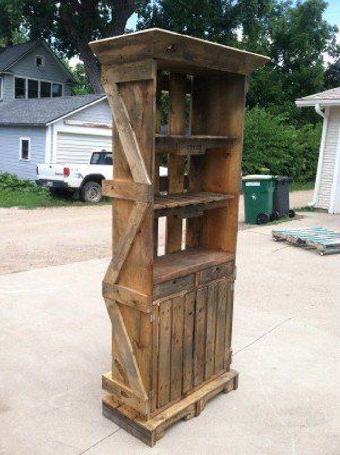 Construir muebles con palets el taller de lo antiguo - Como hacer muebles de jardin con palets ...