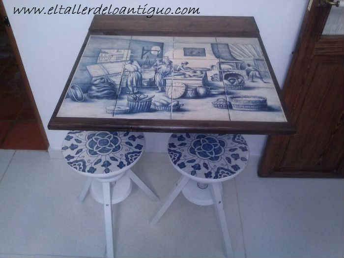 Como hacer una mesa de pared el taller de lo antiguo for Como construir piletas de material