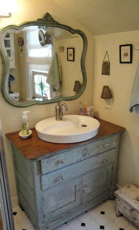 Baño El | Una Comoda En El Bano El Taller De Lo Antiguo